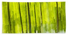 Green Forest Abstract Beach Towel