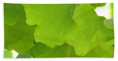 Green Ginkgo Beach Towel by Kim Tran