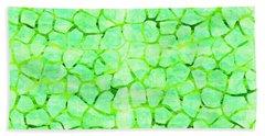 Green Giraffe Print Beach Towel
