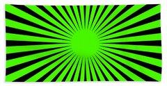 Beach Towel featuring the digital art Green Harmony by Lucia Sirna