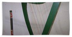 Green Harp Beach Towel