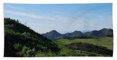Beach Sheet featuring the photograph Green Hills Landscape by Matt Harang