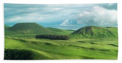 Green Hills On The Big Island Of Hawaii Beach Towel by Larry Marshall