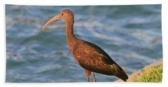 Green Ibis 4 Beach Towel