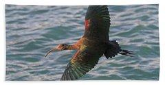 Green Ibis 6 Beach Towel