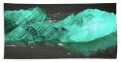 Green Iceberg Beach Towel