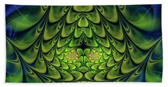 Beach Towel featuring the digital art Green Island by Jutta Maria Pusl
