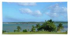 Green Landscape And Sky Beach Sheet