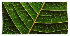 Green Leaf Macro Beach Towel
