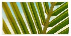 Green Leaf Beach Sheet by Tilen Hrovatic