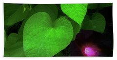 Green Leaf Violet Glow Beach Sheet