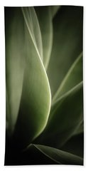 Beach Towel featuring the photograph Green Leaves Abstract by Marco Oliveira