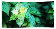 Green Leaves Beach Sheet by Carol Crisafi