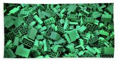 Green Lego Abstract Beach Sheet