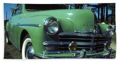 American Limousine 1957 - Historic Car Photo Beach Towel