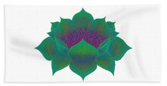Beach Sheet featuring the digital art Green Lotus by Elizabeth Lock