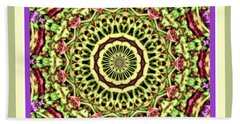 Green Mandala Beach Towel by Shirley Moravec