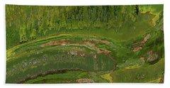 Green Moss Abstract Beach Sheet