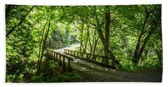 Green Nature Bridge Beach Towel