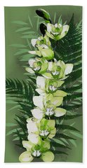 Green Orchid Beach Towel