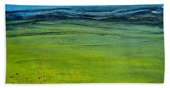 Green Pastures Beach Towel by Jani Freimann