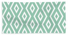 Light Sage Green Pattern Beach Towel