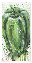 Green Pepper Beach Sheet by Arleana Holtzmann