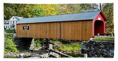 Beach Towel featuring the photograph Green River Covered Bridge - Southern Vermont by Joseph Hendrix