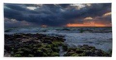 Green Rocks Beach Towel