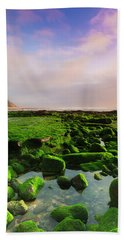 Green Soul Of The Cliff Beach Towel by Edgar Laureano