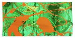 Green Spill Beach Sheet by Thomas Blood