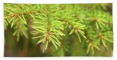 Green Spruce Branch Beach Sheet