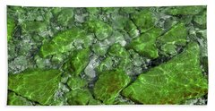 Beach Sheet featuring the photograph Green Stone Waters by LeeAnn McLaneGoetz McLaneGoetzStudioLLCcom