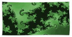 Green Swirl Beach Towel