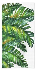 Green Tropic  Beach Towel