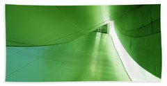 Beach Sheet featuring the photograph Green Tunnel. Los Angeles Series. by Ausra Huntington nee Paulauskaite