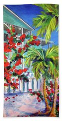 Green Turtle House Beach Towel