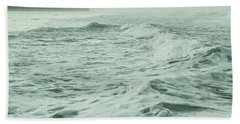 Green Waves Beach Towel