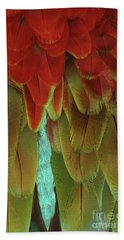 Green-winged Macaw #2 Beach Towel
