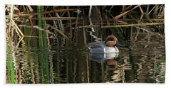 Green Winged Teal  Beach Sheet