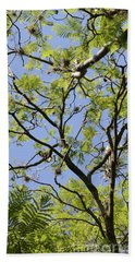 Greenery Center Panel Beach Towel