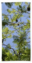 Greenery Left Panel Beach Towel