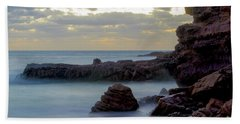 Beach Towel featuring the photograph Greenglades Beach Morning by Angela DeFrias