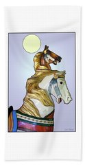 Beach Towel featuring the digital art Greeting The Moon by Lise Winne