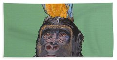 Gregory The Gorilla Beach Towel