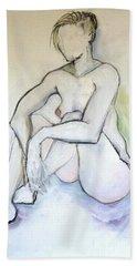 Gretchen - Female Nude Drawing Beach Sheet
