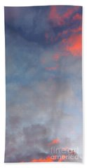 Beach Towel featuring the photograph Pink Flecked Sky by Linda Hollis