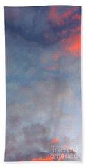 Pink Flecked Sky Beach Towel by Linda Hollis