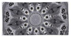 Grey Bubbley Eyes Mandala Beach Sheet by Wernher Krutein