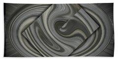 Grey On Grey Beach Towel